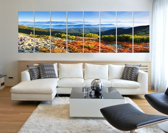 Canvas Prints - Forest Prints on Canvas - Nature Art For Living Room - Forest Canvas Art - Ready to Hang - Autumn Leaves