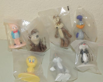 7 Vintage Fast Food toys in the Original bags