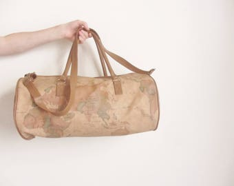 Round cross body bag etsy old world map duffel bag atlas traveler carry on luggage tea dyed neutrals gumiabroncs Images