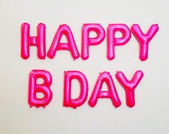 PINK Happy Birthday Balloons, Happy Birthday Letter Balloons, Pink Birthday Parties, HAPPY Pink Balloons, Pink Letter Balloons, Pink Party