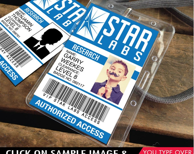 Star Labs ID Badge, The Flash - Flash Party Favor, Flash ID Badge, Gift Tag |  Instant Download D.I.Y. Printable PDF Kit