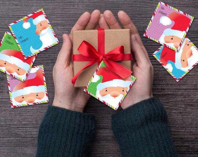 Santa Christmas Gift Tags - PRINTABLE - PDF