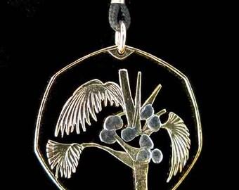 Cut Coin Jewelry - Pendant - Seychelles - Palm