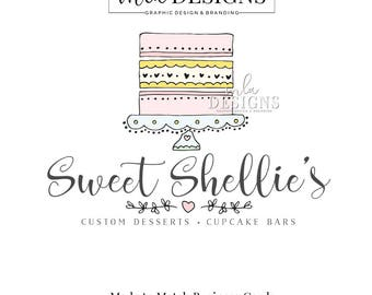 Bakery Logo - Cake Premade Logo, Premade Baking Logo, Cupcake Logo, Cake Logo, Rolling Pin Logo, Baking Logo, Premade Custom Logo