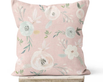 Floral Pillow Cover Peach Blossom
