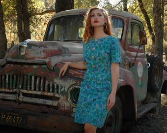 Cotton Dress / Cotton 1950s Dress / Cotton 50s Dress/ Mid Century Dress/ Pin Up Dress / Mode O Day / Day Dress