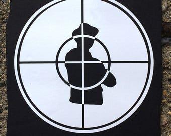 Public Enemy Logo White Decal