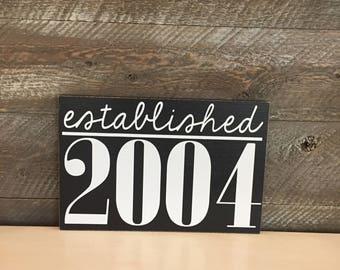 Family Established ~ Year Established Family Sign ~ Custom Wood Sign ~ Established Sign ~ Home Established Sign ~ Wedding Gift ~ Family Sign