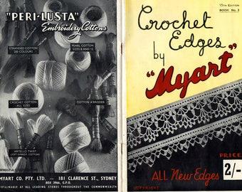 50s Vintage Crochet Edges Patterns Booklet Myart Book 2 Fancy Crochet Lace Edgings
