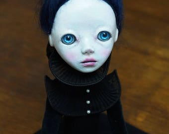 Handmade Collectible Unique -OOAK- Clay poseable Art doll -Alexia