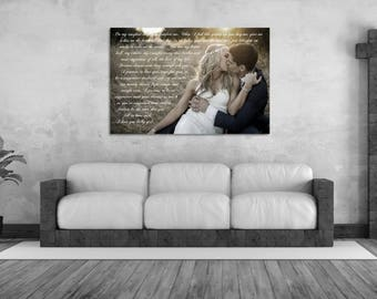 3rd Anniversary Gift  24x36 Personalized Artwork For Your Home Decor
