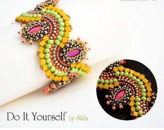 Step by step INSTANT download Pdf beading PATTERN Bracelet #26