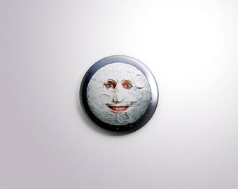 The Moon. The Mighty Boosh Pinback Button [1.5 Inch]