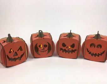Halloween Jack-o'-lanterns (set of four)