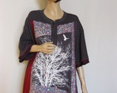 2X to 3X  Grey and Pink Tunic with Tree