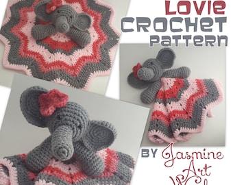 Elephant Lovie Security Blanket Crochet Pattern