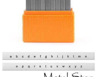 Metal Letter Stamp Set Lower Case 1.5mm by Impressart - Arial Sans Serif font