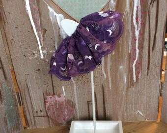 Blythe dark purple lace skirt