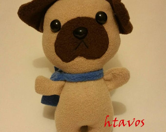 Pug with removable scarf- Plush Toy