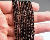 Black Spinel - 2mm(2.2mm) round beads -1 full strand - 175 beads - AA Quality - PG39