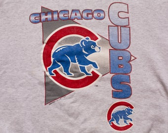 Chicago Cubs Crewneck Sweatshirt, Starter Long Sleeve Shirt, Vintage 90s, MLB Baseball Team Apparel, 1994, Wrigley Field