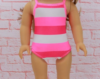"18"" Doll Bathing Suit -  18"" AG Doll Swimsuit  - American Doll Clothes - 18inch Swim suit and Towel -AG  Doll Bathingsuit and Towel"