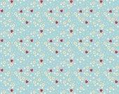 Bake Sale 2 Fabric by Lori Holt - Aqua Strawberry - Lori Holt Fabric By The 1/2 Yard or Fat Quarter