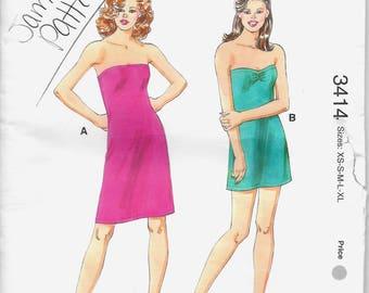 Kwik Sew 3414 Misses' Close-Fitting Strapless Dresses XS S M L XL Sewing Pattern  Uncut
