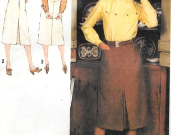 Simplicity 9104 Vintage 1979 Misses' Western Style Shirt and Skirt  Size 6, 8 Uncut Sewing Pattern