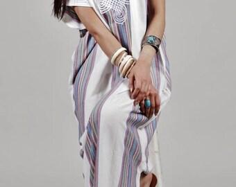 SUMMER 10% OFF // White Marrakech Bedouin Moroccan Beach kaftan loungewear, as beachwear, birthday gifts, honeymoon gifts, kaftan, caftan, b