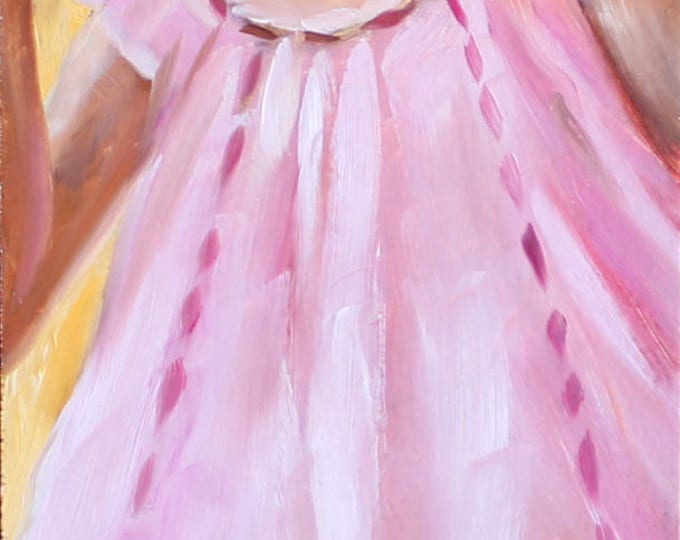 Pink Teddy, oil on wooden panel, 8x20 inches, by Kenney Mencher