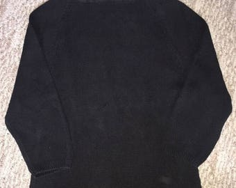 Vintage Women's Turtle Neck Knit Sweater By Conspiracy Size Medium Black