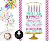 Bakery Birthday Party /Cake Decorating Invitation/Cupcake Decorating Invitation/ Printable Invitation / Printed Invitations