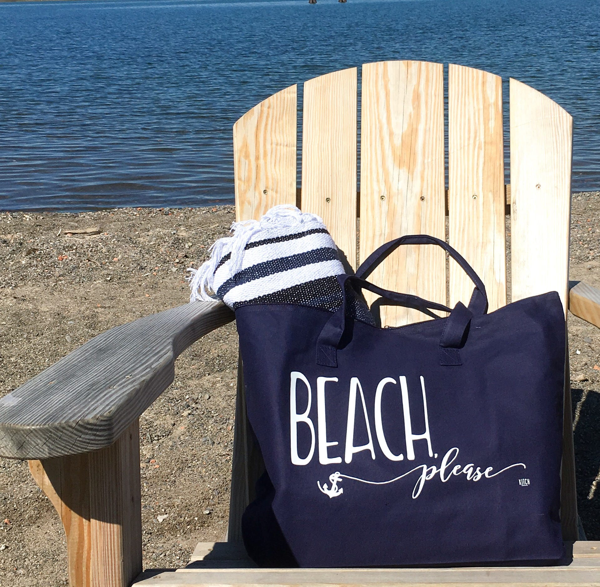 Tote Bag Beach Tote Bag Beach Please Tote Navy Tote Anchor