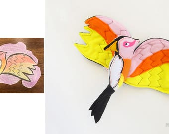 Custom stuffed toy from drawing Kid's art turn into softie - MADE TO ORDER