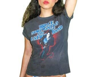Vintage Bruce Springsteen Shirt 1984-1985 Concert shirt Band Tee 80s Tee 80s shirt