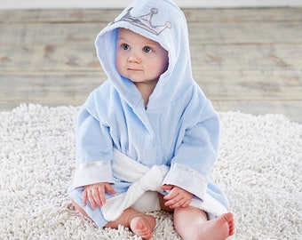 "Infant's Personalized ""Little Prince"" Hooded Spa Robe"