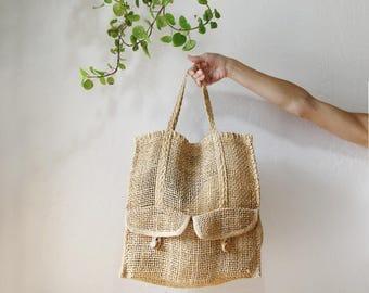 Summer Beach Bag // Woven Sisal