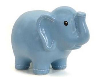 Elephant piggy bank etsy - Ceramic elephant piggy bank ...
