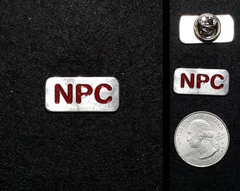 Hand Cast NPC (non player character) Lapel Pin