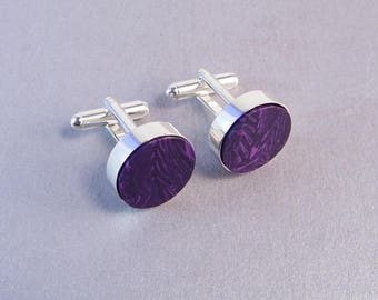 Orchid Wedding Cufflinks SHIPS IMMEDIATELY Handmade Lavender Wedding Charoite Cuff Links Purple Gifts for Groomsmen Birthday Gifts for Him