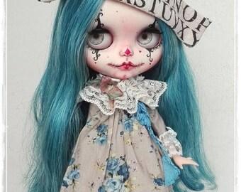 SILVERIA Gothic clown  Blythe custom doll by Antique Shop Dolls