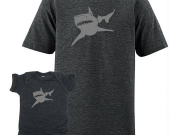 Father Son Matching Baby Shark Matching Father Son Shirts, For Dad T shirts Christmas present, dad baby shirt, gift for new dad, For Husband