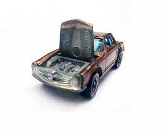 Hot Wheels, 1969 Redlines, 250sl Mercedes-Benz, Copper,  Die Cast Metal, Collectible Toy Car, Toy Car