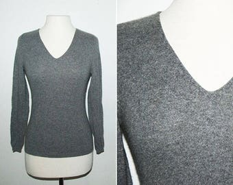 90's Cashmere V-Neck Long Sleeve Sweater / Sz Small