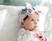 Watercolor Floral Headband - Turban - Top Knot - Adult Child Infant - Baby Headband - Buy One Give One