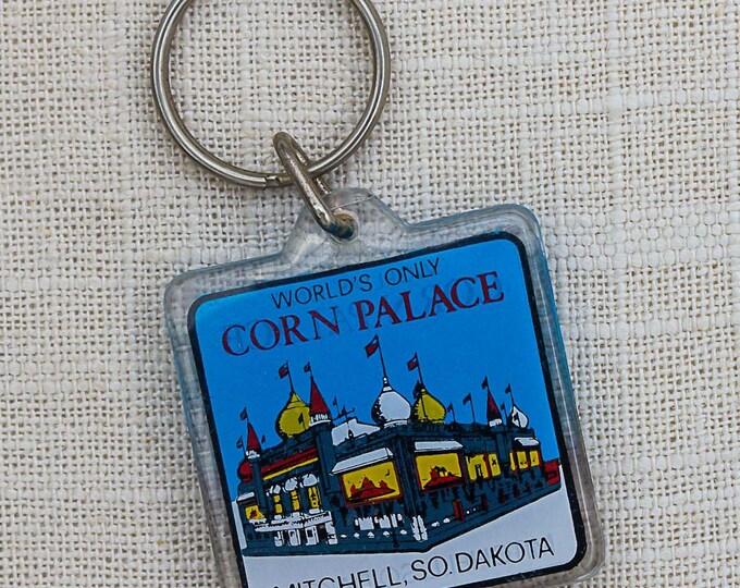 Corn Palace Keychain Vintage Mitchell South Dakota Worlds Only Key FOB Key Chain 7PP