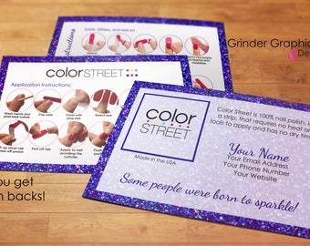 Color Street Twosie Postcard: 4x6 Personalized, Digital Download, Marketing Material, Postcards