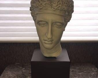 "Vintage Michelangelo's David bust Ceramic Stone Look Art Sculpture 18"""