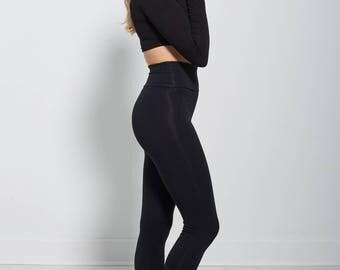 Black Bamboo Leggings, Bamboo Yoga Leggings, Plus Size Leggings, Organic Yoga Leggings, High Waisted Leggings, yoga pants plus size